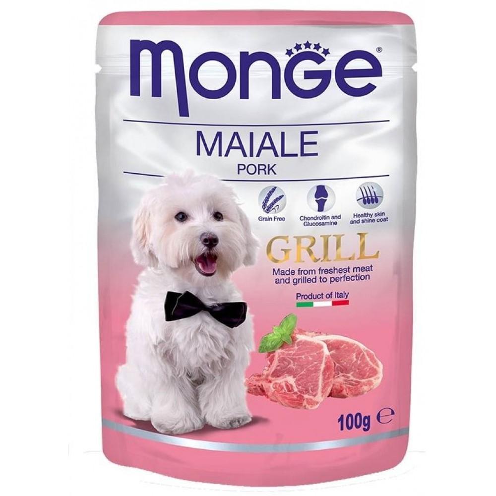 Monge Dog Grill Pouch - Паучи для собак со свининой