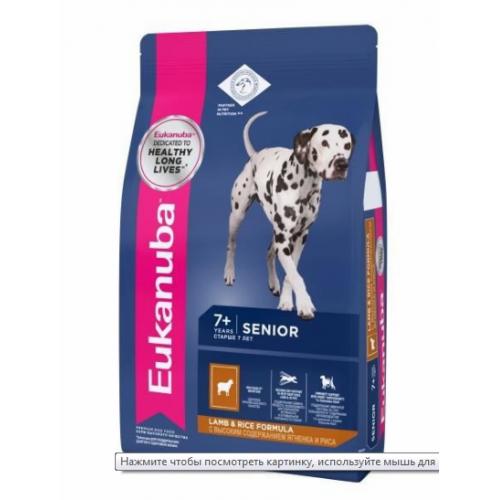 Dog - Корм для пожилых собак всех пород с ягненком