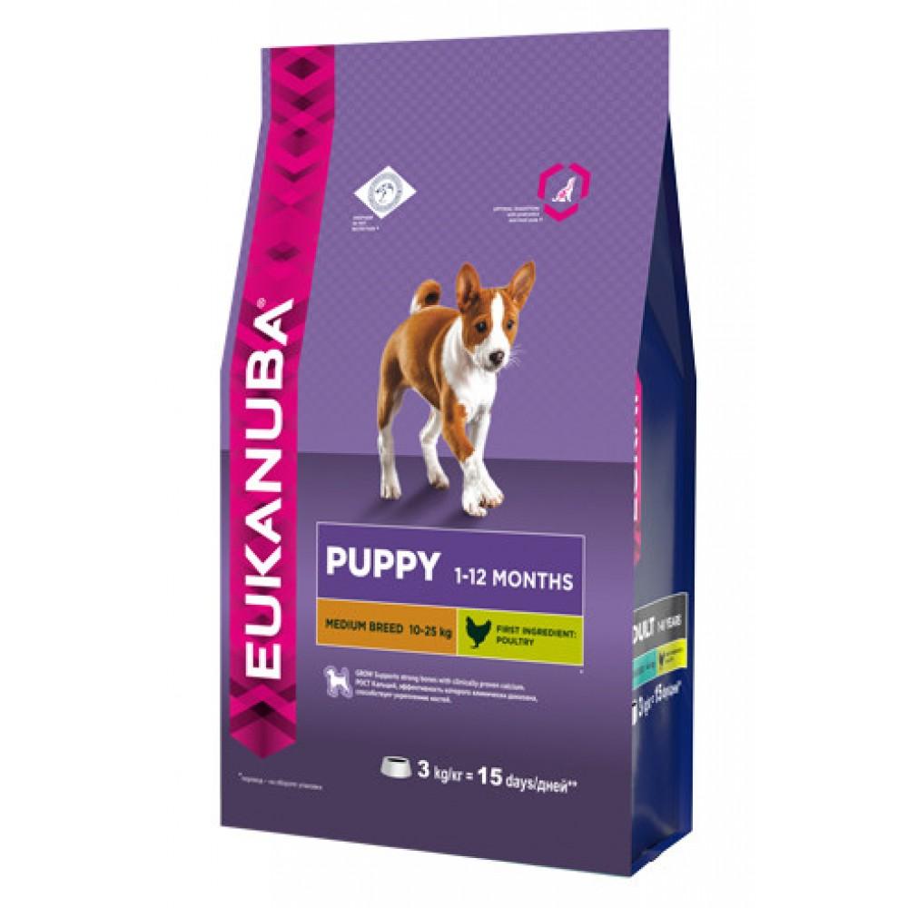 Eukanuba Dog - Корм для щенков средних пород