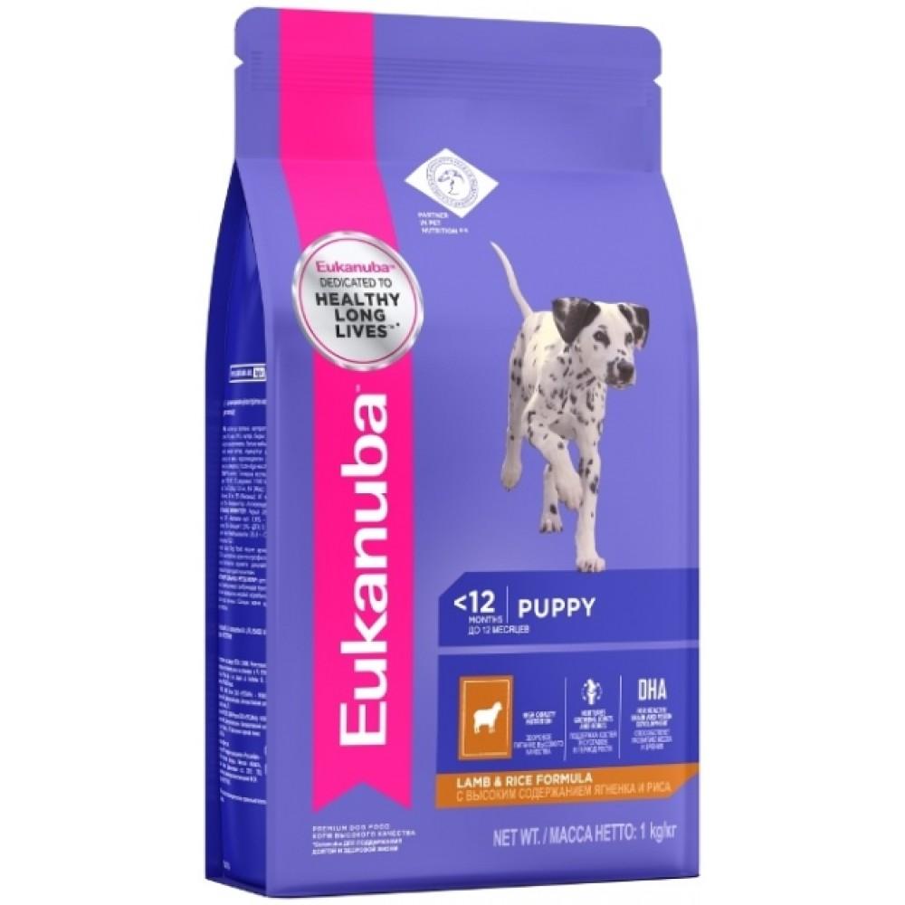 Eukanuba Dog - Корм для щенков всех пород с ягненком