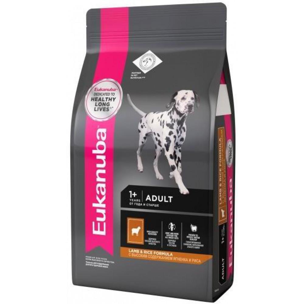 Eukanuba Dog - Корм для взрослых собак всех пород с ягненком