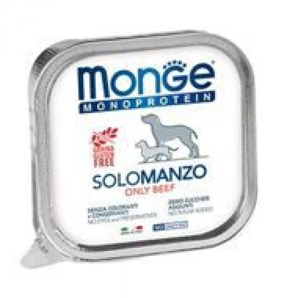 Monge Dog Monoprotein Solo - Консервы для собак паштет из говядины