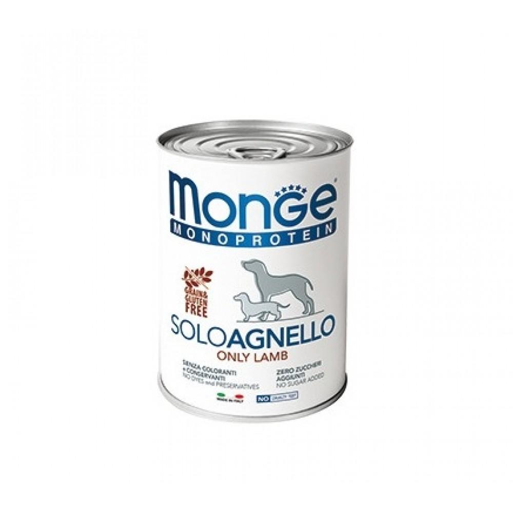 Monge Dog Monoprotein Solo - Консервы для собак паштет из ягненка