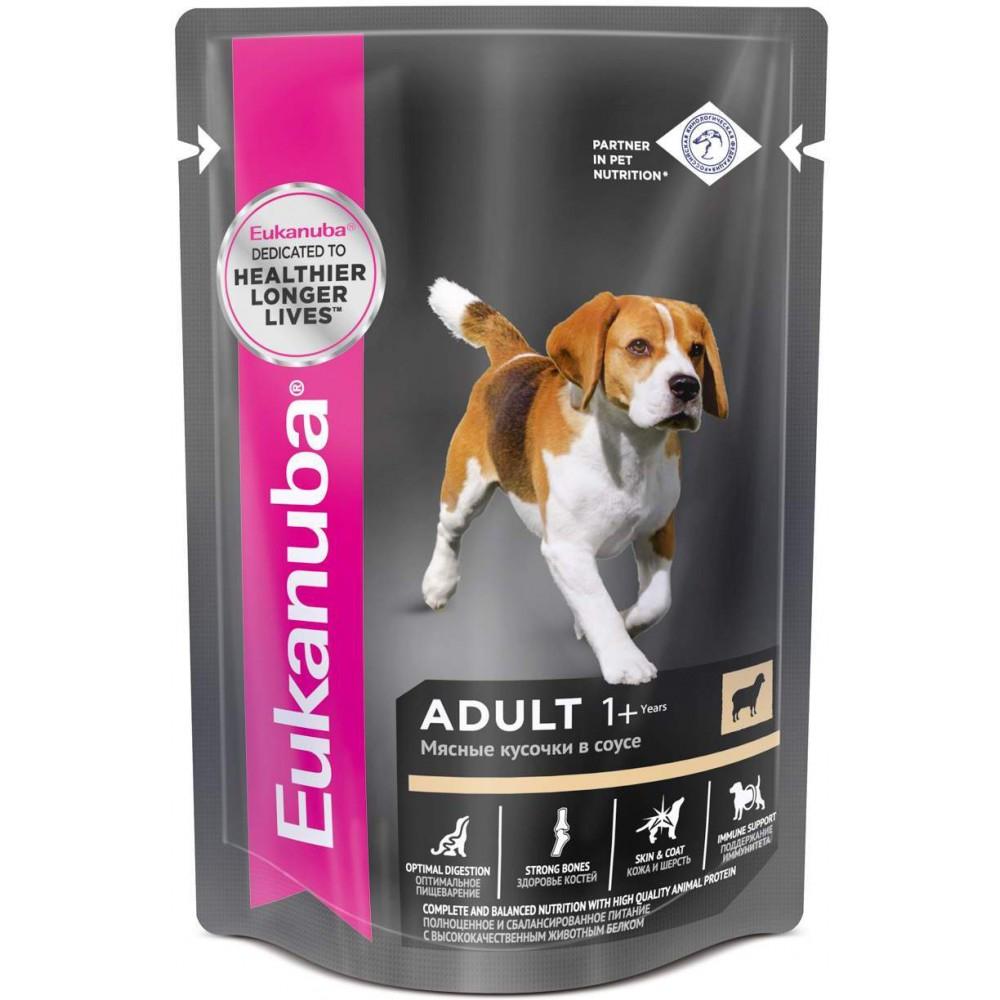Eukanuba Dog - Паучи корм для собак с ягненком в соусе
