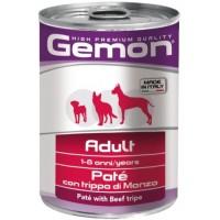Gemon Dog - Консервы для собак паштет с говяжьим рубцом