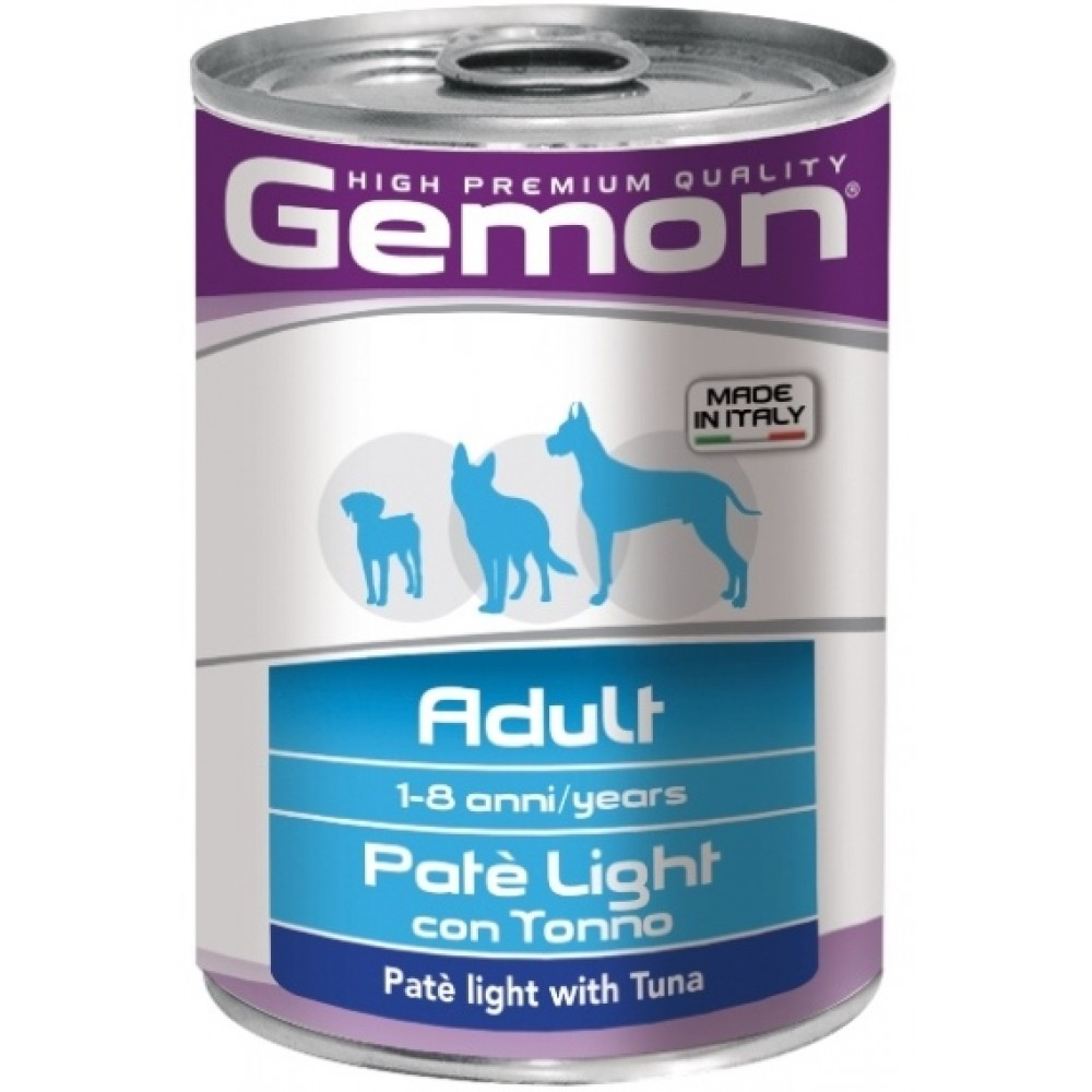 Monge Gemon Dog Light - Консервы для собак облегченный паштет с тунцом