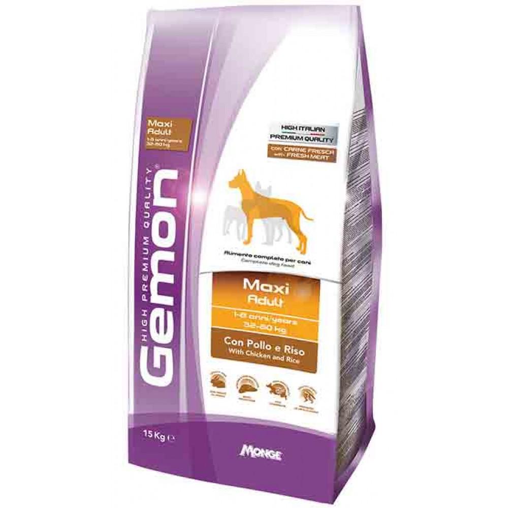 Monge Gemon Dog Maxi - Корм для взрослых собак крупных пород с курицей и рисом
