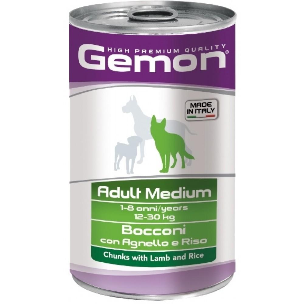 Monge Gemon Dog Medium - Консервы для собак средних пород с кусочками ягненка и рисом