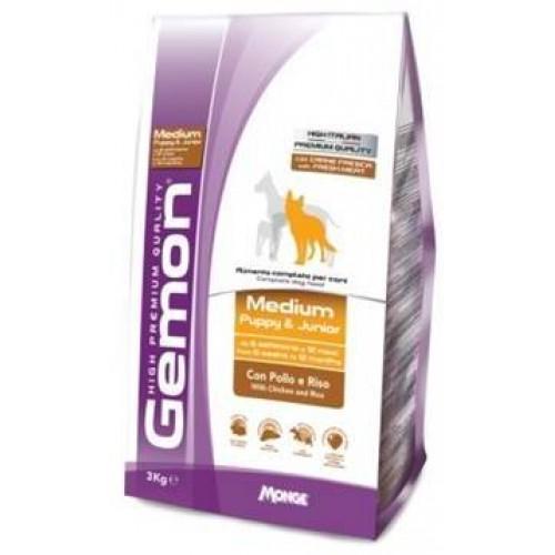 Gemon Dog Medium - Корм для щенков средних пород с курицей и рисом