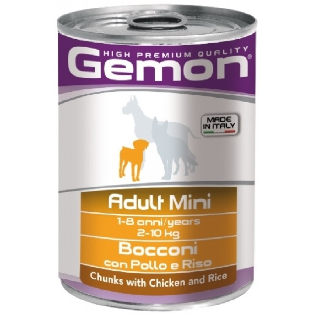 Monge Gemon Dog Mini - Консервы для собак мелких пород с кусочками курицы и рисом