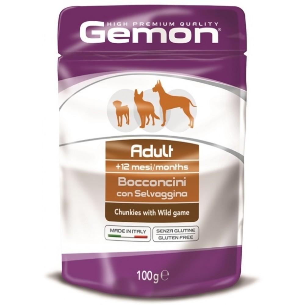Monge Gemon Dog Pouch - Паучи для собак с кусочками дичи