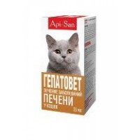 Гепатовет для кошек, 1 фл 25 мл