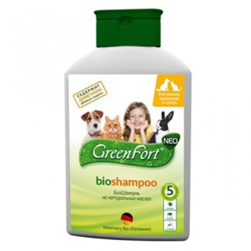 Green Fort Neo Bio Shampoo Грин Форт БиоШампунь от блох и других эктопаразитов для собак, кошек и кроликов, 380мл