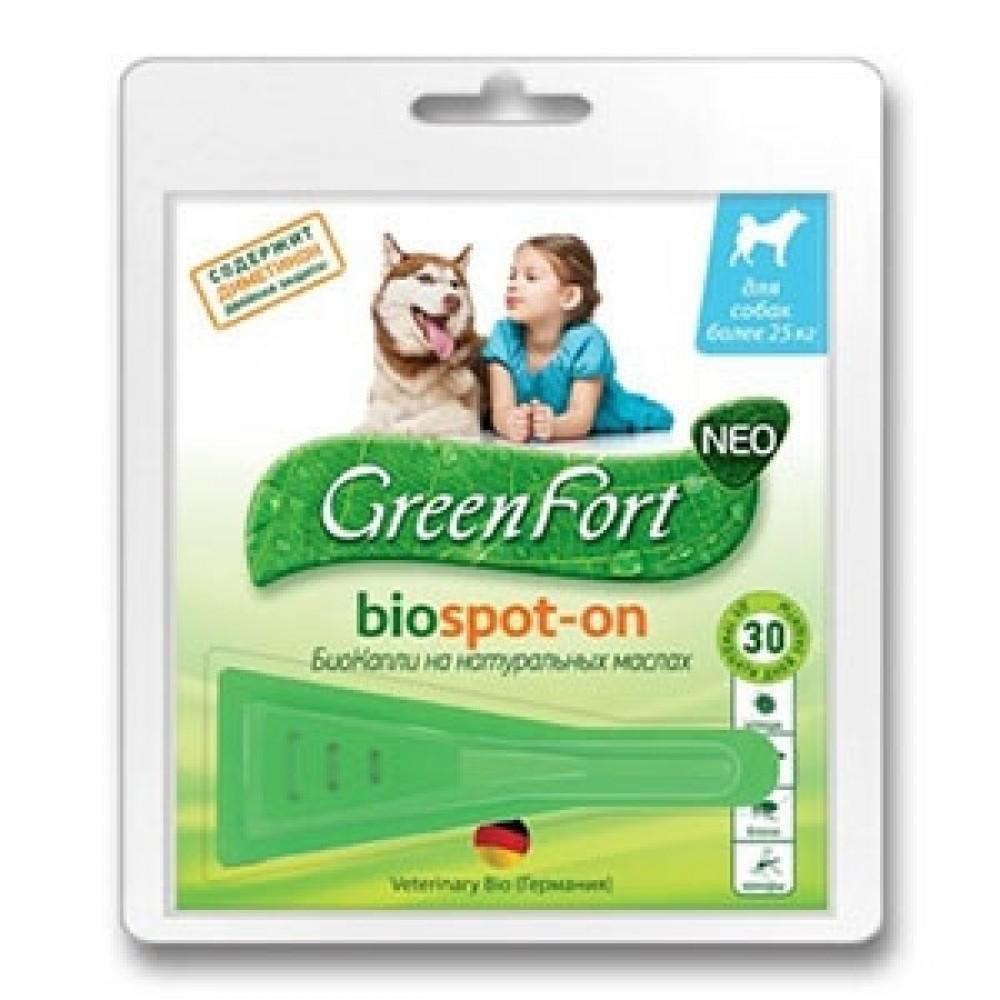 Экопром Green Fort neo / Грин Форт нео капли для собак, кошек и кроликов от клещей, блох, власоедов и комаров, 1 пипетка