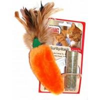 """Игрушка для кошек """"Морковь"""" плюш с тубом кошачьей мяты"""