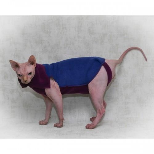 Кофта для кошки Синий флис