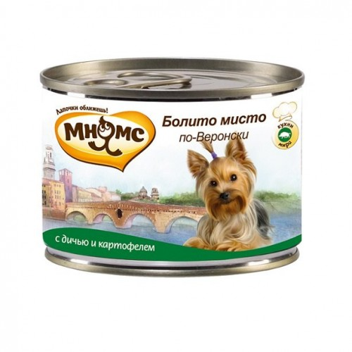 Консервы для собак - Болито мисто по-веронски (дичь с картофелем)