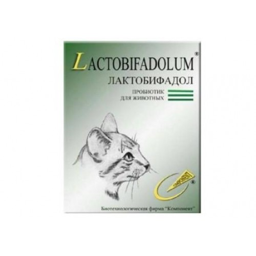 Лактобифадол для кошек, уп. 50 гр