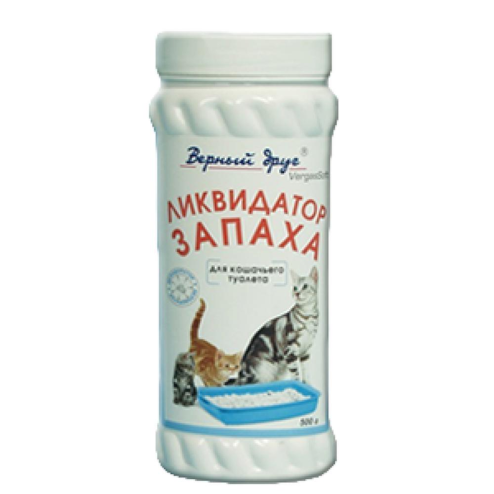 """Верный друг Ликвидатор запаха (дезодоратор) для кошачьего туалета """"Верный Друг"""" , фл. 500 г"""