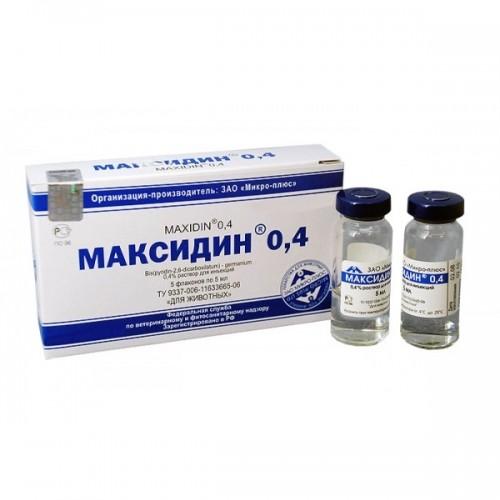 Максидин 0,4% инъекц. р-р, 1 фл. (5 мл)