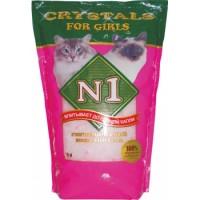 """Наполнитель антибактериальный силикагелевый """"Crystals №1"""" для кошачьих туалетов (5 л. / 2,6 кг.)"""