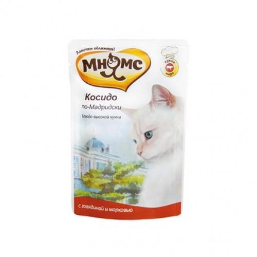 Мнямс Паучи для кошек - Косидо по-мадридски (говядина с морковью)