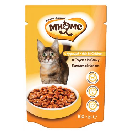 Паучи для взрослых кошек - С курицей в соусе, идеальный баланс