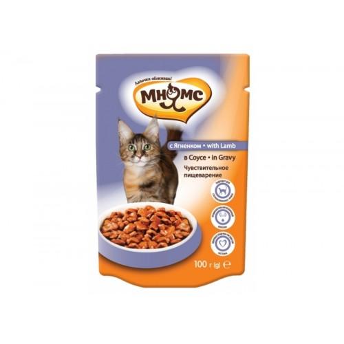 Паучи для взрослых кошек - С ягненком в соусе, чувствительное пищеварение
