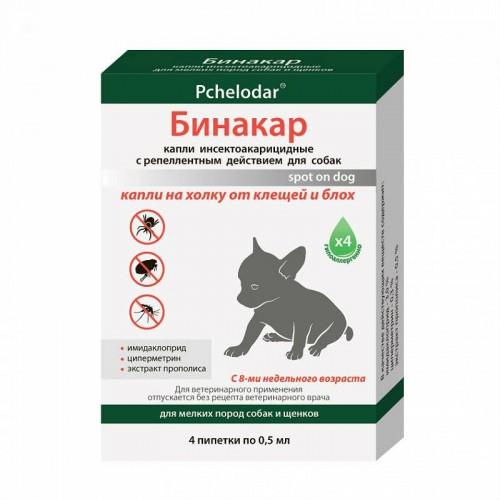 ПЧЕЛОДАР Бинакар, Капли от блох и клещей для собак мелких пород № 4