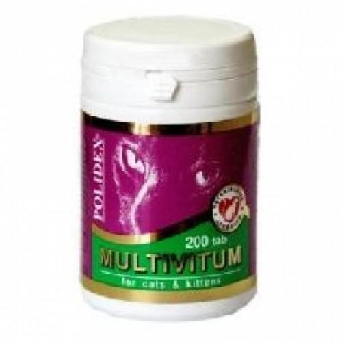 Polidex MULTIVITUM / Полидекс мультивитум для кошек, 200 таб