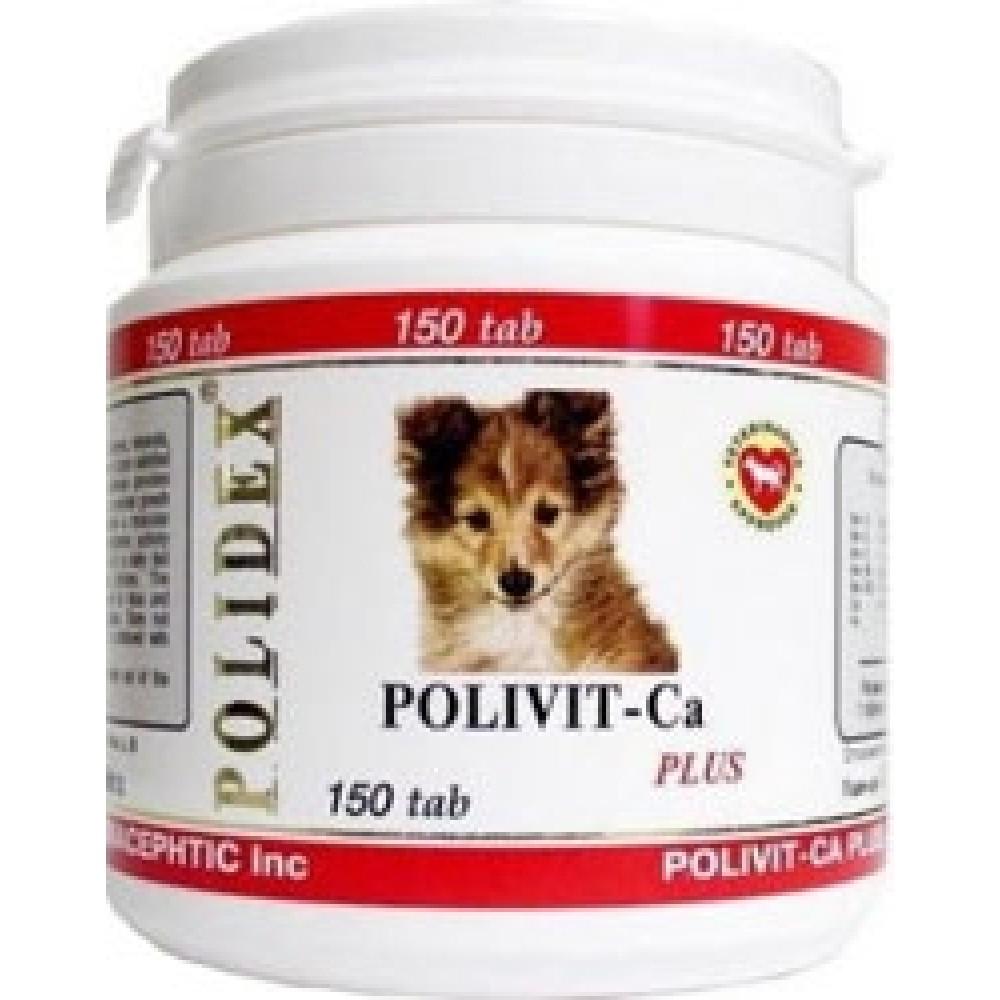 Polidex POLIDEX POLIVIT-CA plus Полидекс /Поливит-Кальций плюс добавка для щенков, беременных и кормящих сук, 1 уп.