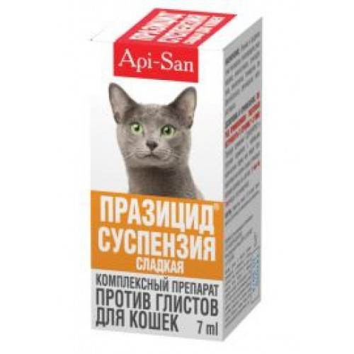 Празицид суспензия плюс, для кошек, фл. 7 мл