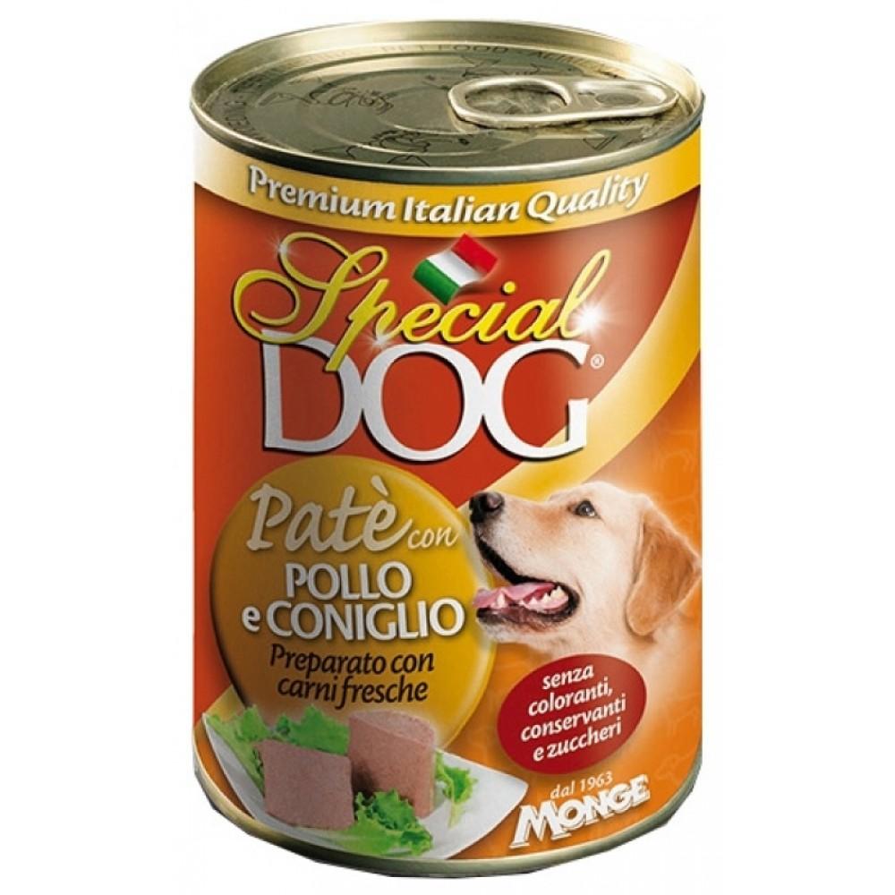 Monge Special Dog - Консервы для собак паштет из курицы с кроликом