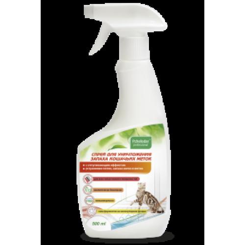Спрей для уничтожения запаха кошачьих меток (Пчелодар), фл. 500 мл.