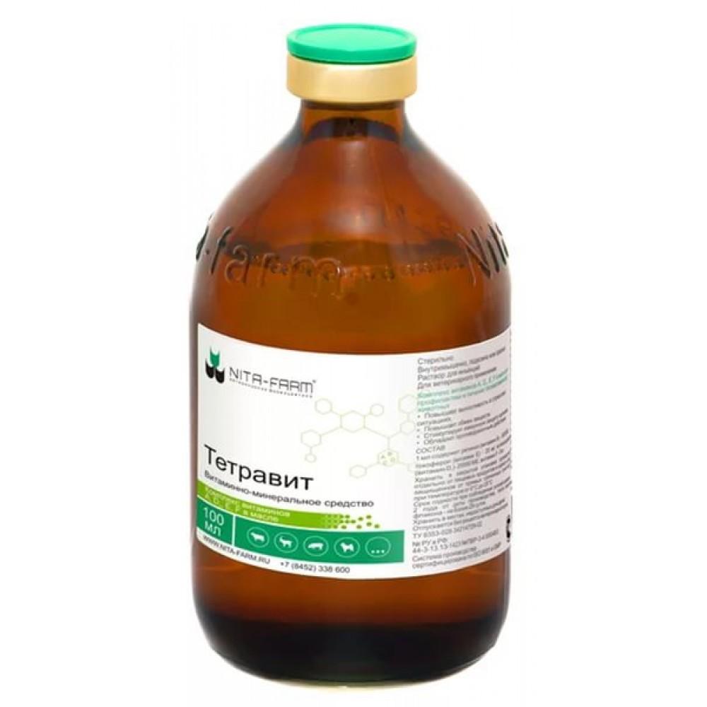 Нита Фарм ТЕТРАВИТ (комплекс витаминов А, D3, Е и F в масле), 100 мл