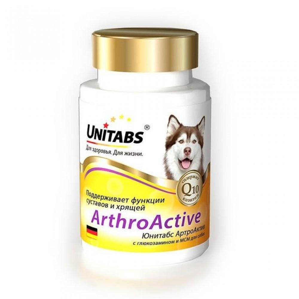 Экопром Unitabs ArthroActive c Q10 (Юнитабс АртроАктив) витамины для собак при болезнях суставов, 100 таб.