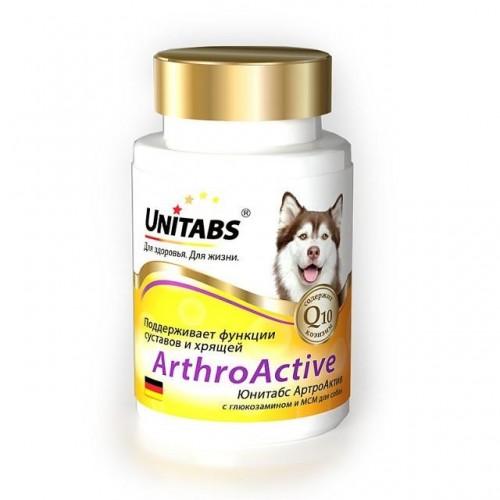 Unitabs ArthroActive c Q10 (Юнитабс АртроАктив) витамины для собак при болезнях суставов, 100 таб.