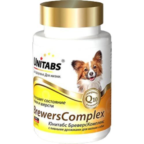 Unitabs BreversComplex (small) / Витамины с пивными дрожжами Юнитабс бреверс комплекс для собак мелких пород, 100 таб.