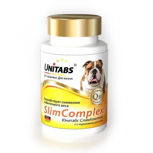 Unitabs SlimComplex (Юнитабс СлимКомплекс) с Q10 витамины для собак, 100таб.