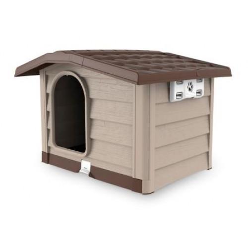 BAMA PET - Будка для собак BUNGALOW, пластик, бежевая