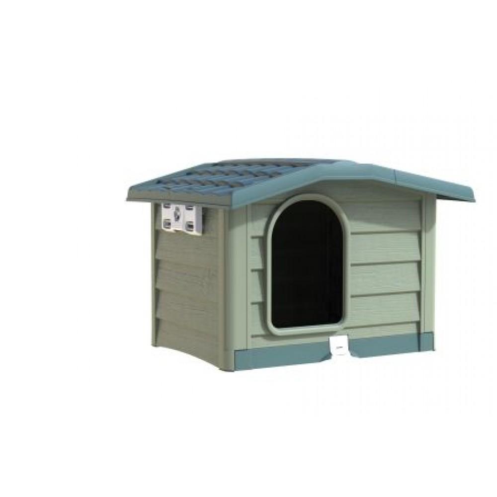 BAMA PET - Будка для собак BUNGALOW, пластик, зеленая