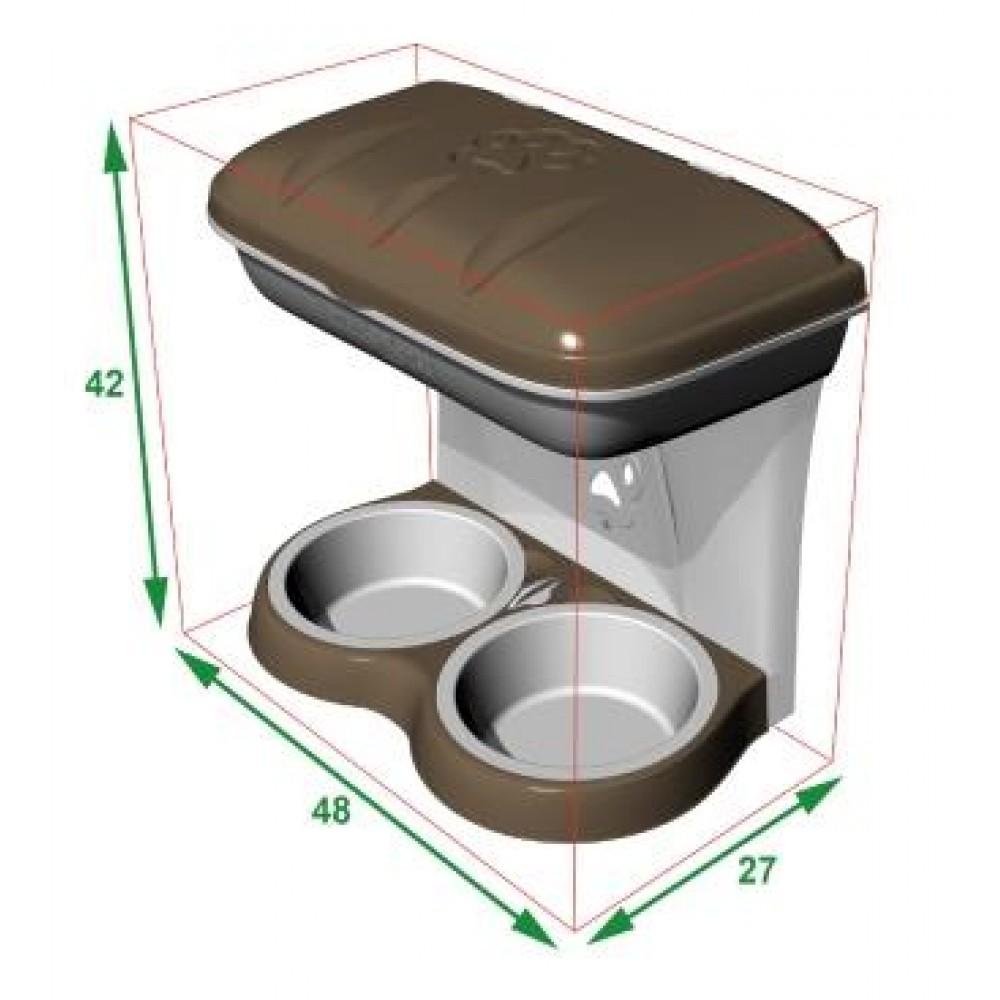 BAMA PET - Миска для собак настенная двойная 1600 мл