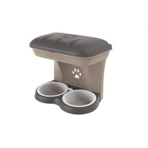 BAMA PET - Миска для собак настенная двойная MAXI 2200 мл