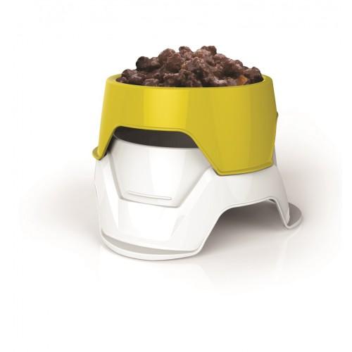 BAMA PET - Миска пластиковая двойная для собак, желтая
