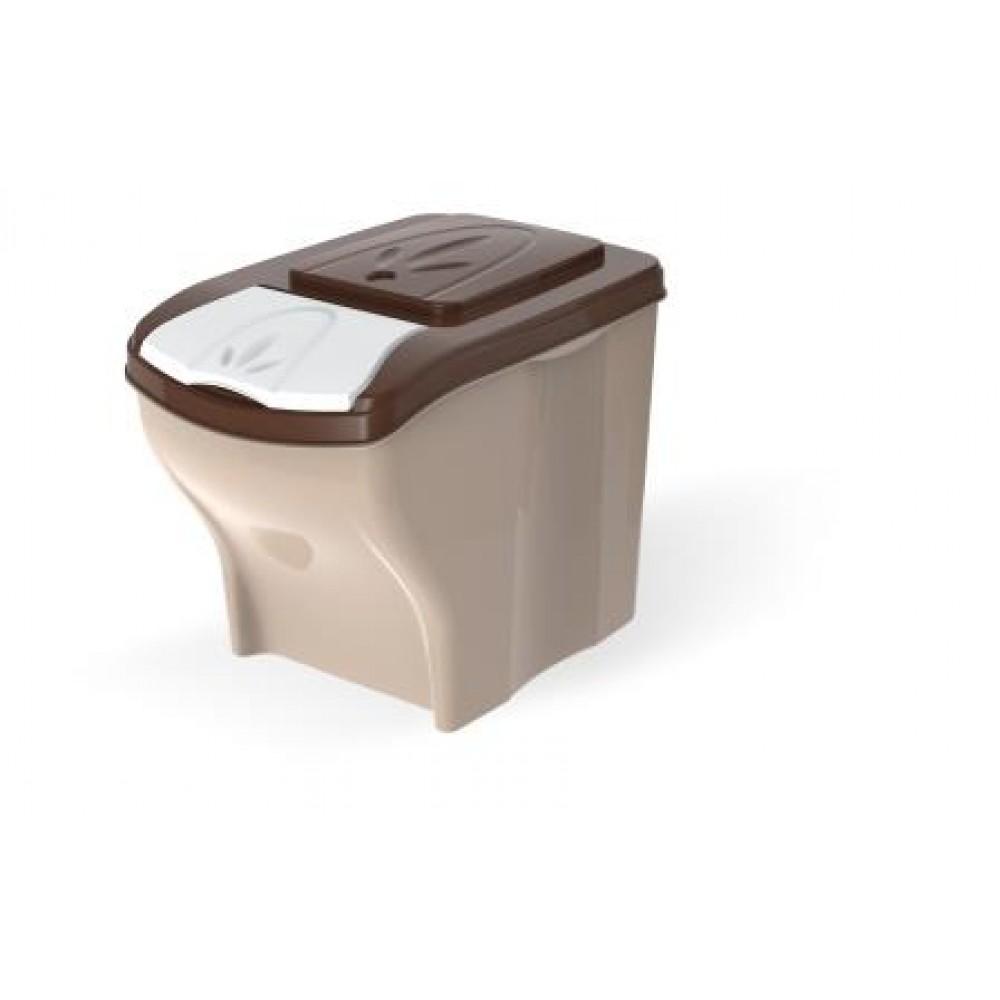 BAMA PET - Контейнер для хранения корма POKER 20л, 3 шт. в комплекте, бежевый