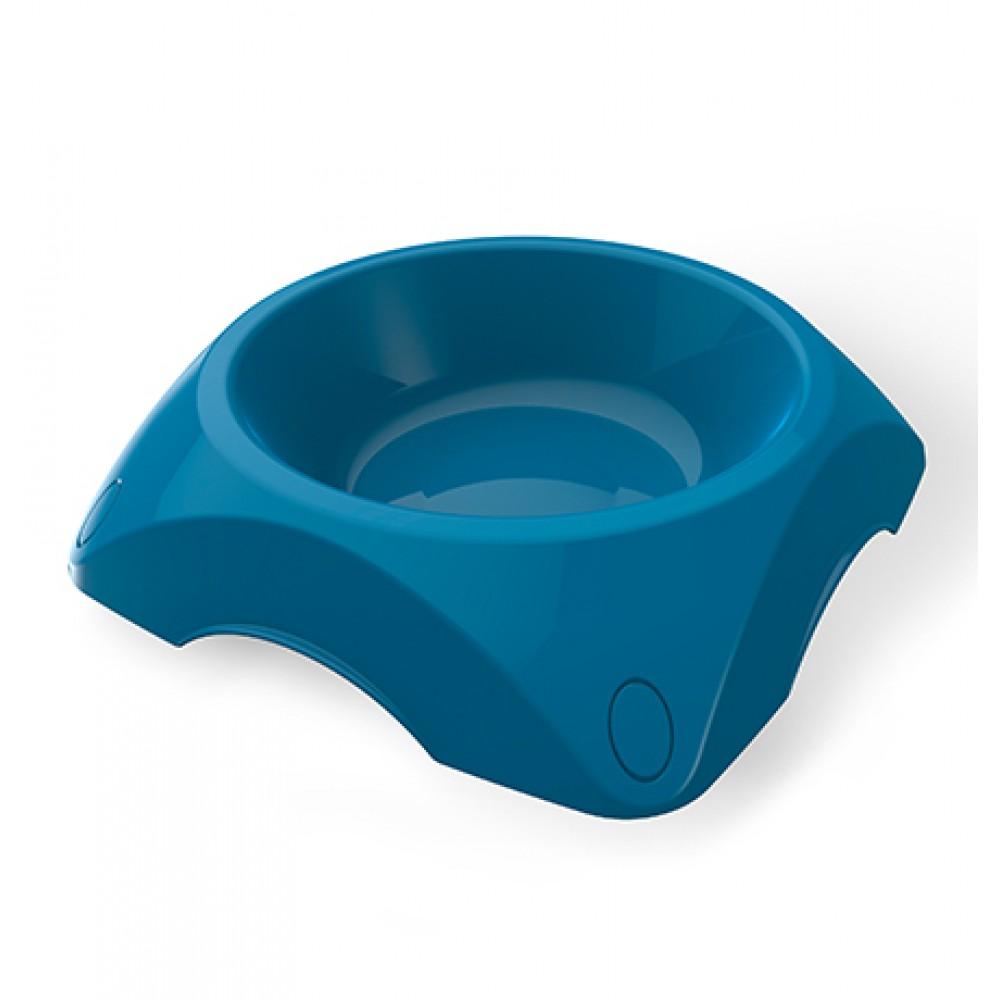 BAMA PET - Миска пластиковая двойная для собак, синяя