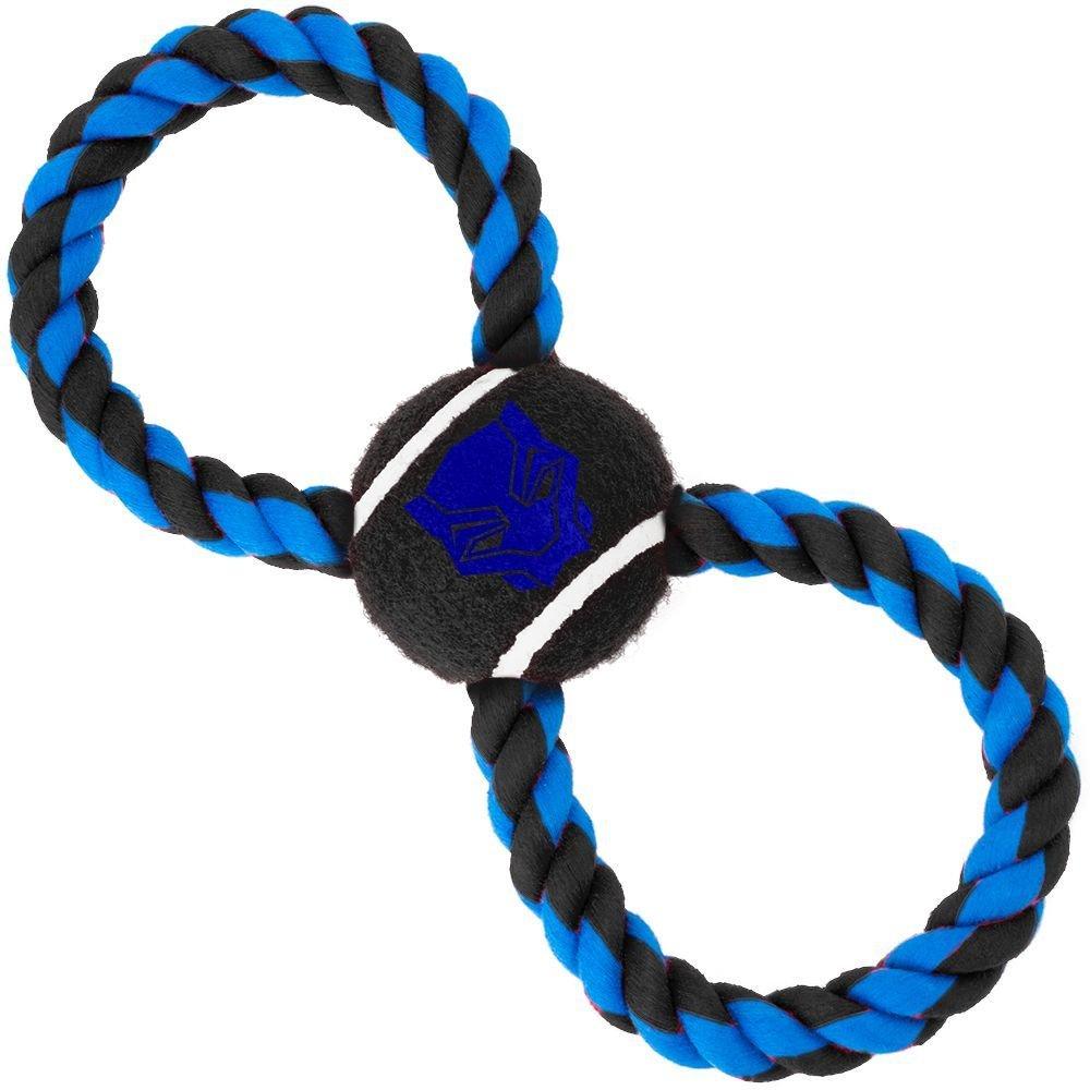 "Buckle-Down Black Panther - Игрушка для собак мячик на верёвке ""Чёрная Пантера"""