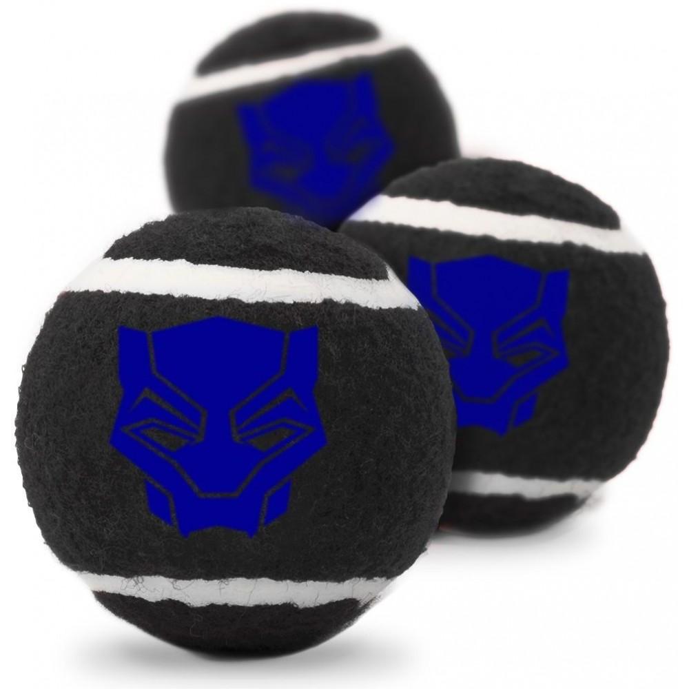"""Buckle-Down Black Panther - Игрушка для собак теннисные мячики """"Чёрная Пантера"""""""