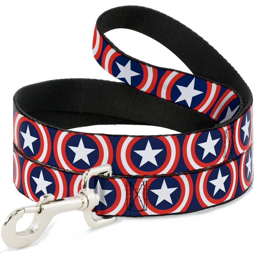 "Buckle-Down Captain America - Поводок для собак ""Капитан Америка"""