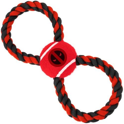 """Deadpool - Игрушка для собак мячик на верёвке """"Дэдпул"""""""
